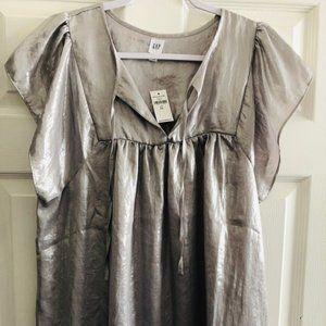 Gap silver blouse L